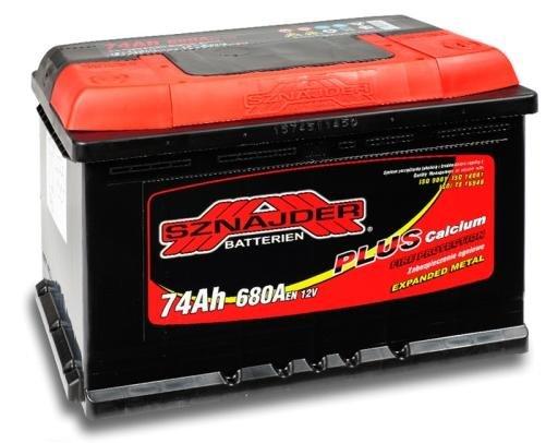 74Ah 680A SZNAJDER Akumulators