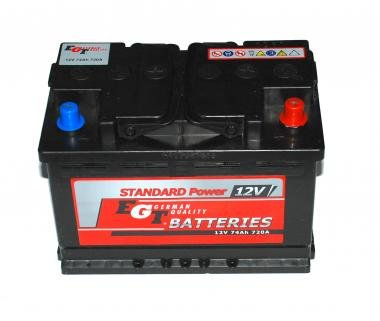 74Ah 680A EGT Akumulators